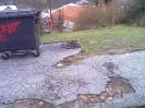 Vysbírávání asfaltu